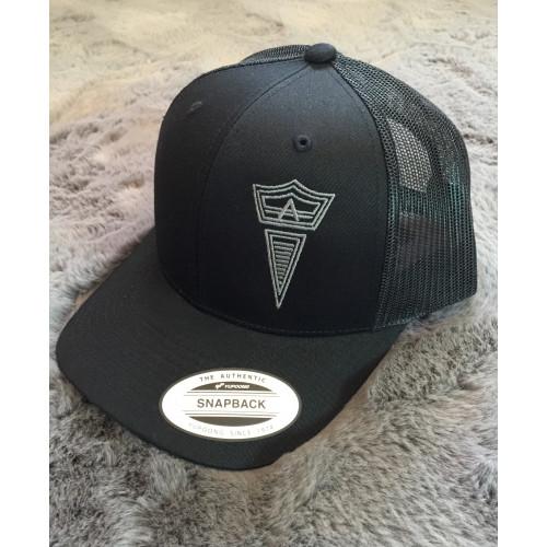 Snap Back Unisex Ball Cap (black)