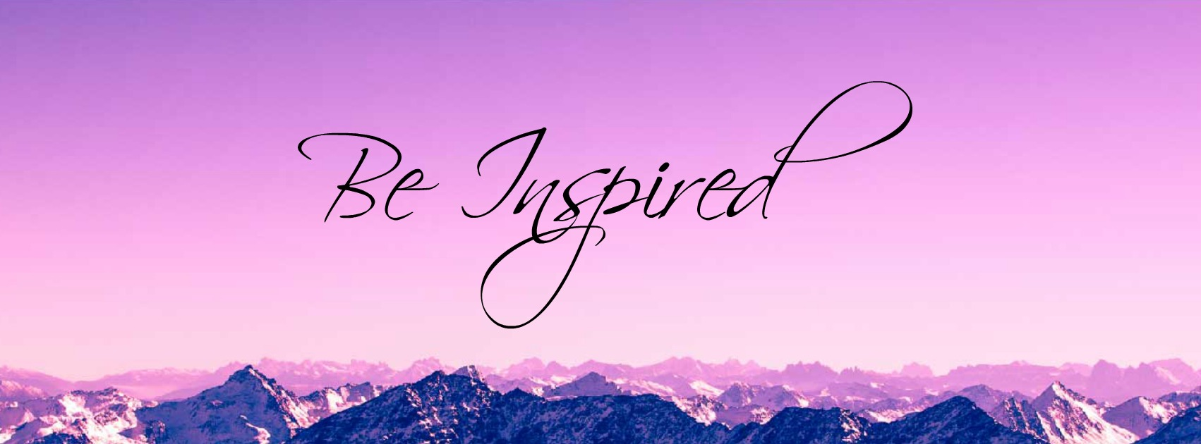 Be inspired website header