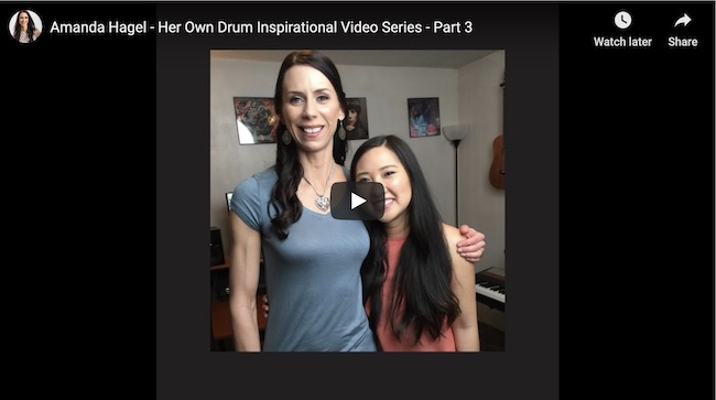 "Part 3 Series Finale of Amanda's ""Her Own Drum Inspirational Video Series"" Is out Now!"