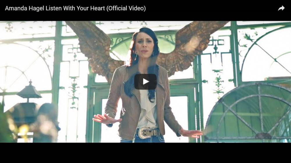 "November 23rd the Official Worldwide Music Video Release for Amanda's Christmas single  ""Listen With Your Heart""!"